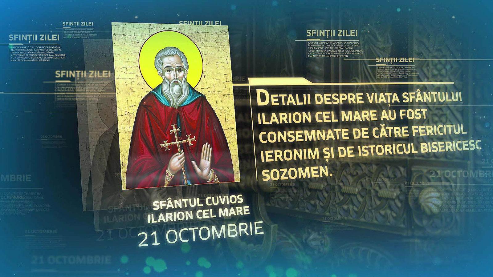 Sfantul-Cuvios-Ilarion-cel-Mare-21-octombrie-sinaxar